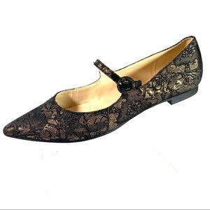 Franco Sarto Mary Jane Flats Black Quilted 7.5 M
